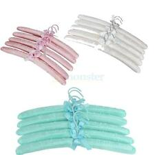 5Pcs Satin Padded Children Kids Baby Coat Clothes Dress Hook Hangers Display