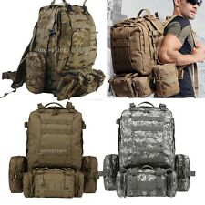 Molle Military Camping Hiking Tactical Outdoor Rucksack Backpack Bag Sack 65L