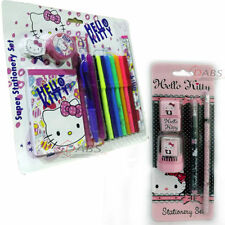 Hello Kitty Pink Super Stationery Set School Pen Pencil Ruler Sharpener Rubber