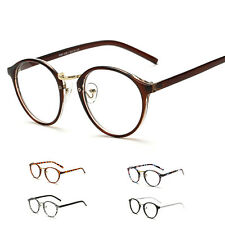 Womens Retro Round Frame Clear Glasses Lens Myopia Eyeglasses Spectacles Eyewear