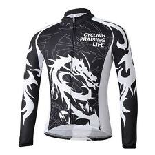 Long Sleeve Mens Cycling Jersey Bicycle Mountain Bike Jacket Wear Dragoon S-5XL