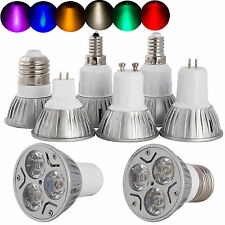 AU Dimmable LED Spot Light Epistar Bulb B22 E27 E14 GU10 GU5.3 E14 3W White Lamp