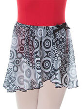 Girl's Body Wrappers Printed Tapered Mock Wrap Skirt