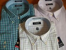 NWT $50 MSRP, Mens Chaps Classic Fit Twill Wrinkle Free Cotton Blend Dress Shirt