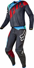 Fox Racing Mens Grey/Red/Blue Flexair Seca Dirt Bike Jersey & Pants Kit Combo