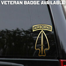 Army Special Operations Command Ops Airborne Decal Sticker Veteran Car Window