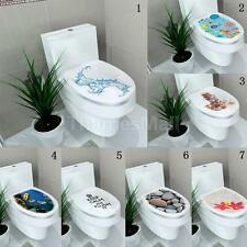 DIY Toilet Seat Wall Sticker Home Vinyl Art Washroom Sticker Bathroom Decals