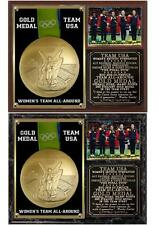 Team USA Rio Women's Gymnastics Gold Medal Team All-Around Photo Plaque