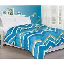 NEW Twin Full Queen King Bed Aqua Blue Green White Chevron Zig Zag Comforter NWT