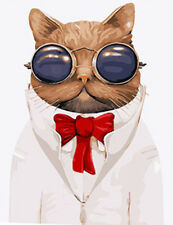 Mr. Cat In Glasses Needlepoint Canvas 443