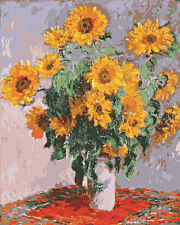 Yellow Flowers Hand Painted Design Needlepoint Canvas 411