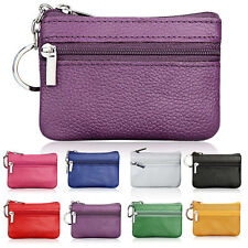 Creative Soft Card Coin Key Holder Zip Genuine Leather Wallet Pouch Bags Purse