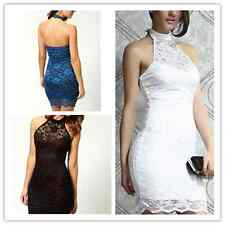 Women Sexy Evening Party Bodycon Pencil Dress Cocktail Lace Stretch Clubwear