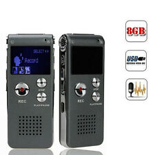 8/4GB Digital Audio Voice Recorder Dictaphone Telephone Rechargeable MP3 Player