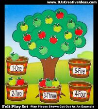 Counting/Matching apples-Felt/flannel Story Board-Felt Board play set-education