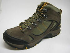 HI TEC MENS WATERPROOF WALKING BOOT BROWN/TAUPE/GOLD FALCON WP