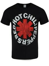 Red Hot Chilli Peppers Red Asterisks Mens Black RHCP T-Shirt - NEW & OFFICIAL