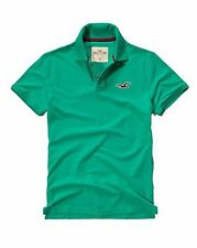 Nwt Hollister By Abercrombie & Fitch Men's Muscle Fit Polo Shirt Green