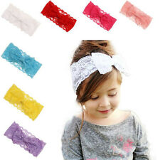Elastic Baby Girls Lace Big Bow Head Band Baby Head Wrap Band Hair Accessories