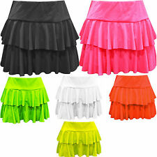 Ladies Girls Neon RARA Mini Flared Skirt Short Dance Club Sexy Gym Women Sizes