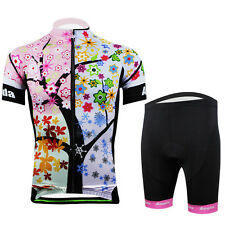 Women's Cycling Jerseys & (Bib) Shorts Gel Padded Spandex Bicycle Kit S-3XL Pink