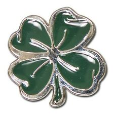"""5280-CC 1 1/8""""  Lucky 4 Leaf Clover Nickel & Green Decorative Metal Accent Piece"""