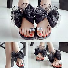 New Suit Beach Pool Summer Women's Flip Flops Platform Shoes Bow Tie Sandals MG