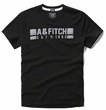 Nwt Abercrombie By Hollister & Fitch Men's Muscle Fit Tee T Shirt Black