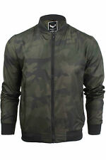 Mens Jacket Brave Soul Entwistle Camo Military MA1 Harrington Bomber Coat