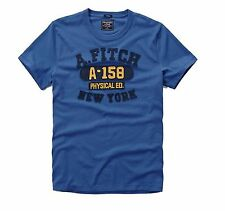 Nwt Abercrombie By Hollister & Fitch Men's Muscle Fit Tee T Shirt Blue