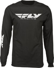 Fly Racing Casual Black/White Mens Corporate Long Sleeve T-Shirt 2017