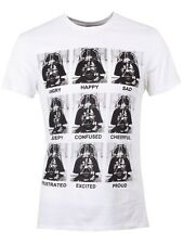 Star Wars Darth Vader Emotions Men's White T-Shirt - NEW & OFFICIAL