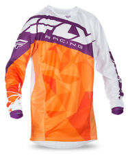 Fly Racing Orange/Purple/White Mens & Youth Kinetic Crux Dirt Bike Jersey MX ATV