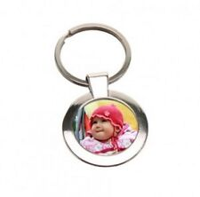 Personalised Keyring Metal Custom Photo Printed complete with free Gift box