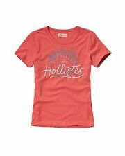 Nwt Hollister By Abercrombie & Fitch Women's Tee T Shirt Size XS Coral