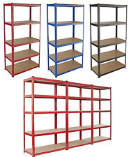 5 Heavy Duty Shelving Racking Garage 5 Tier Storage Units Metal Shelves Bays UK