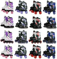 Sk8 Zone Pro Inline Quad Roller Skates Ice Skating Boots Adjustable Shoes Blades