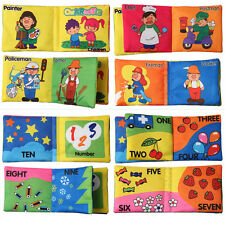 Infant Baby Kid Intelligence Development Cloth Book Cognize Educational Toy zo