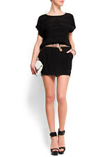LADIES BLACK MINI SKIRT WITH SIDE STRIPES FROM MANGO IN SIZE 10 OR 12 BNWT