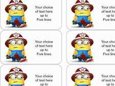Minions 130 x Personalised Name Address Gift Craft Labels