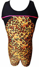TALENT TALE GIRLS DANCE/ GYMNASTIC Racer Back Animal Printed Tank Biketard