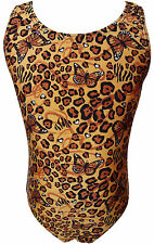 TALENT TALE GIRLS DANCE/ GYMNASTIC ANIMAL PRINTED TANK LEOTARD