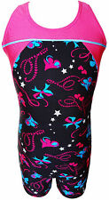 TALENT TALE GIRLS DANCE/ GYMNASTIC Racer Back Printed Tank Biketard
