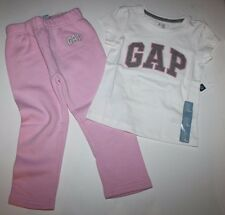 baby Gap NWT Girls 18 24 Mo. 2T 3T Outfit Set Arch Logo T Top & Pink Sweat Pants