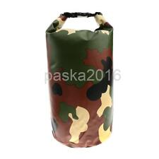 5/10/20L PVC Waterproof Dry Bag Camping Boating Fishing Rafting Kayaking Pouch