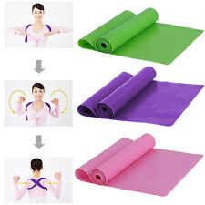 1.5m Elastic Yoga Pilates Rubber Stretch Resistance Exercise Fitness Band Strap