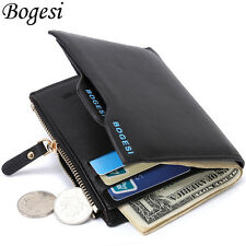 Men's Faux Leather Wallet ID Credit Card holder Clutch Bifold Coin Purse Pockets