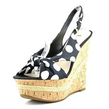 Guess Delilan   Open Toe Canvas  Wedge Heel