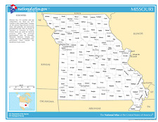 Missouri State Counties w/Cities Laminated Wall Map