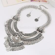 Vintage Women Statement Exaggerate Trendy Bohemian Bib Collar Necklace jewelry